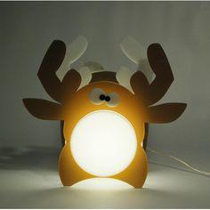 Lampada Elk. Lampada da tavolo o da comodino per camerette bambini. #design #plexiglass #designtrasparente #online #bambini #illuminazione #kids