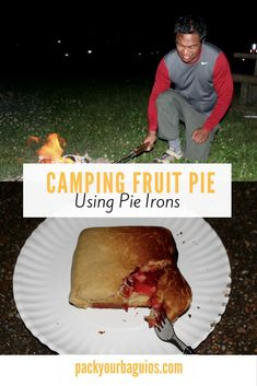 Pie Iron Fruit Pie Yes, You Can Cook Pie in the Woods! Healthy Camping Snacks, Camping Menu, Camping 101, Camping Ideas, Camping Foods, Kayak Camping, Winter Camping, No Bake Pumpkin Pie, Baked Pumpkin