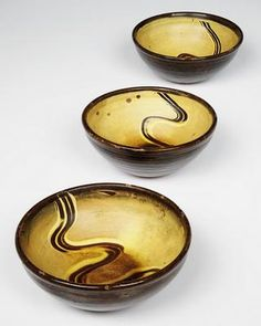 Michael Cardew slipware bowls - Cardew was considered one of the best slipware potters ever.