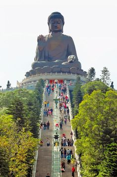 The Great Buddha of Po Lin Monastery on Lantau Island, Hong Kong, China Places To Travel, Places To See, Po Lin Monastery, Travel Around The World, Around The Worlds, Hongkong, China Travel, Macau Travel, Italy Travel