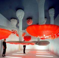 Upside Down Mushroom Room - Carsten Höller - MOCA