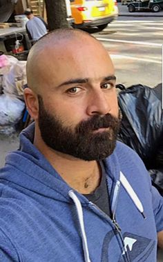 Bald Men With Beards, Bald With Beard, Great Beards, Awesome Beards, Scruffy Men, Hairy Men, Bearded Men, Men Beard, Shaved Head With Beard
