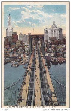 NEW YORK CITY,View From Brooklyn Bridge Tower