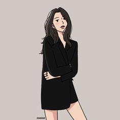 40 Trendy line art drawings illustration Liz Clements, Korean Art, Cartoon Art Styles, Illustration Girl, Cute Cartoon Wallpapers, Couple Art, Art Sketchbook, Girl Cartoon, Aesthetic Art