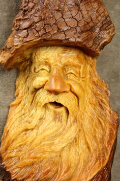 Wood Spirit Wood Carving Christmas Gift for by TreeWizWoodCarvings, $58.00