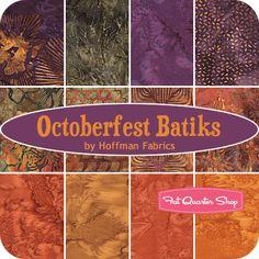 Octoberfest Fat Quarter Bundle  Hoffman Fabrics     Fat Quarter Batik Club---- September