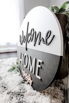 Welcome Home Signs, Wood Signs For Home, Welcome Wood Sign, 3d Laser, Laser Cut Wood, Laser Cutting, Wooden Projects, Wood Crafts, Wooden Door Signs