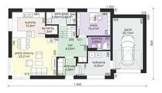 Rzut Dom przy Alabastrowej 6 CE Malm, Design Case, Home Projects, Floor Plans, Interior, Home Decor, House Ideas, Places, Houses