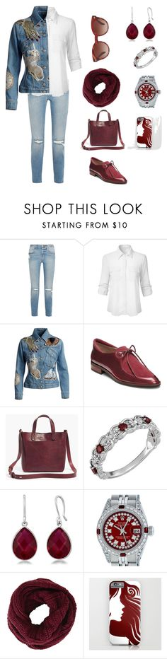 """""""Sem título #192"""" by criscaruccio ❤ liked on Polyvore featuring Frame, Alexander McQueen, Aerosoles, Madewell, Rolex, BCBGMAXAZRIA and Oliver Peoples"""