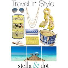 Travel in style with Stella & Dot by caseyeking on Polyvore featuring polyvore, fashion, style, Jack Rogers, Stella & Dot, Ray-Ban and Baxton Studio
