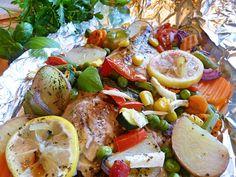 Zöldségekkel sült tengeri halfilé - Gyors és finom receptek Caprese Salad, Camembert Cheese, Food, Essen, Meals, Yemek, Insalata Caprese, Eten
