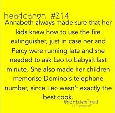 Excuse me?! Who wrote this? Leo is an excellent cook! Remember in the lost hero