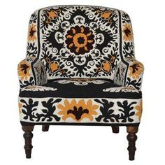 Embroidered Suzani-Style Armchair