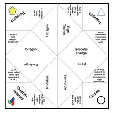 Types of polygons cootie catcher.