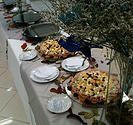 Buffet corporativo, Coquetel com prato quente e finger food. Bebidas alcoolicas e não alcoólicas.