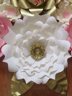 Plantilla de flor de papel
