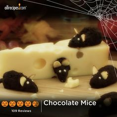 "Chocolate Mice | ""We won a prize at an adult Halloween party for these! We made a lab rat maze and dressed as mad scientists."" —Kearnine"