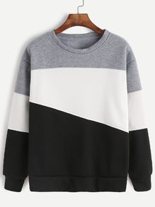 Shop Light Grey Contrast Casual Sweatshirt at ROMWE, discover more fashion styles online. Pullover Hoodie, Grey Sweatshirt, Sweat Shirt, Sweater Hoodie, Trendy Hoodies, Cool Hoodies, Ellesse, Kawaii Clothes, Sweatpants Outfit