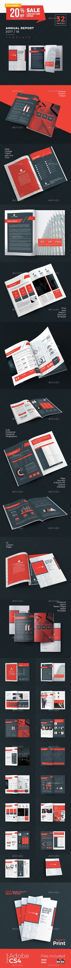 Annual Report Template INDD Annual Report Brochure Design - annual report template design