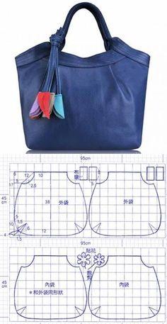48 Ideas For Diy Bag Pattern Leather Inspiration Handbag Patterns, Bag Patterns To Sew, Patchwork Bags, Quilted Bag, Denim Patchwork, Bag Quilt, Denim Crafts, Diy Handbag, Denim Bag