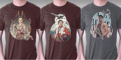 Amazing T-Shirts Of The 'Star Wars TFA' Trio Nerdy Shirts, Geek Chic, Star Wars, Comic Books, Stars, My Style, Amazing, Mens Tops, T Shirt