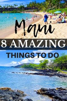 Maui Hawaii has many wonderful things to see and do. Find out the best 8 things to do in Maui on the Maui Hawaii, Kauai, Visit Hawaii, Lahaina Maui, Hawaii In July, Kaanapali Maui, Best Beaches In Maui, Trip To Maui, Italy