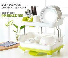 1PC Dish Rack Multifunctional Dish Rack Kitchen Storage Rack for Home Hotel Dorm