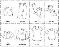 Resultado De Imagen Para Colorear Prendas De Vestir Ingles