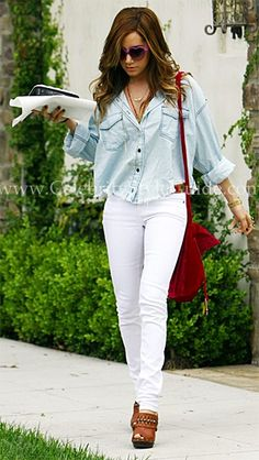 Ashley Tisdale Style and Fashion - One Teaspoon Mickey Shirt - Celebrity Style Guide