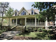 Southern wrap around porch pertaining to decoration: southern house plans with wrap around porches home Southern House Plans, Country Style House Plans, Dream House Plans, House Floor Plans, My Dream Home, Dream Houses, Southern Homes, Southern Farmhouse, Bedroom Floor Plans