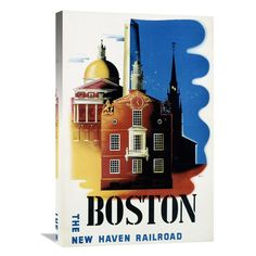 Global Gallery New Haven Railroad / Boston Canvas Wall Art - GCS-294697-