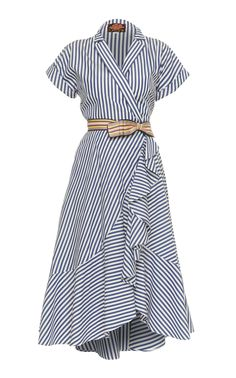 This **Lena Hoschek** Carolina Wrap Dress features short sleeves with a v-neckline and shirt dress silhouette. Source by lmchellsen Dresses Simple Dresses, Casual Dresses, Casual Outfits, Fashion Dresses, Summer Dresses, Wrap Dresses, Dress Skirt, Dress Up, Shirt Dress