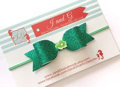 Glitter Glitter Girl, Green Glitter, Hair Bow Display, G Hair, Handmade Hair Accessories, Party Hairstyles, Baby Headbands, Hair Bows, Stud Earrings