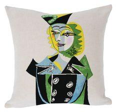 Picasso Throw Pillow - Portrait de Nusch Eluard
