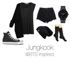 """Jungkook Ideal Type"" by bts-inspired ❤ liked on Polyvore featuring Alexander Wang, T By Alexander Wang, The Horse, Converse and Hue"