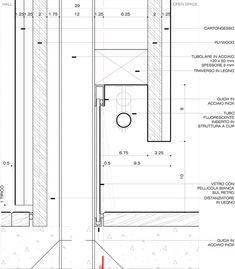 Dolomites House by JM Architecture Architecture Drawings, Interior Architecture, Joinery Details, Drawing Interior, Construction Drawings, Architectural Section, Detailed Drawings, Technical Drawings, Baseboards