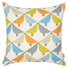 BuyScion All Over Birds Cushion, Multi Online at johnlewis.com