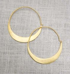Very chic bangle earrings I love to wear when my hair is pinned up in a bun! :-)