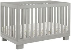 Babyletto Modo 3-in-1 Convertible Crib with Toddler Bed Conversion Kit- Grey
