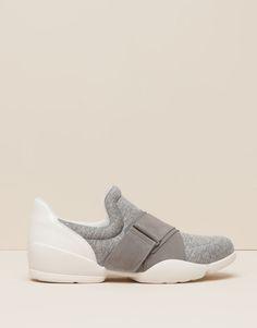 Pull&Bear - zapatos - novedades - deportivo elástico - gris claro - 15400011-I2015