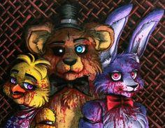 Bonnie, Chica, and Freddy fan-art