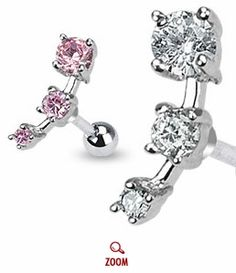 Triple CZ Tragus Earring
