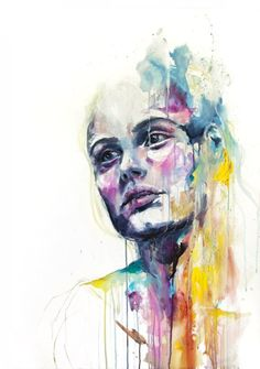 watercolor people | Watercolor Paintings by Agnes Cecile