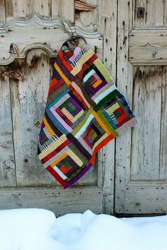 Quilt en laine à St Véran (Queyras) by chabronico, via Flickr