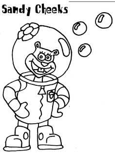 Free Spongebob Squarepants Coloring Page Pages 16 Printable