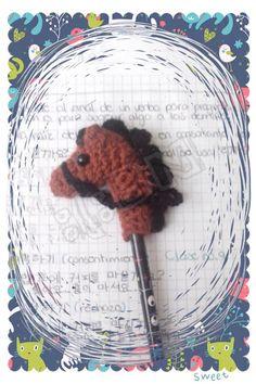 Amigurumi//Horse//Pencil Topper//Crochet//Caballo//