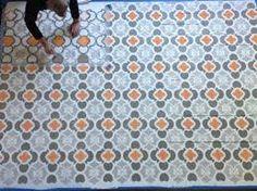 Fint målat golv!