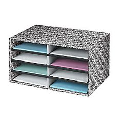 Organize your home office with this bankers box literature sorter.