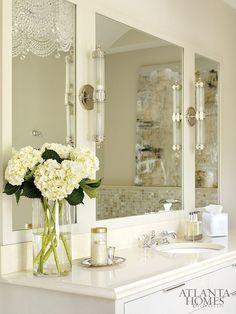 Bathroom. Cream White Bathroom. #BathroomDesign #White