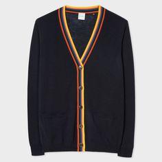 Designer Knitwear For Women. Paul Smith Women s Navy Merino Wool Cardigan  ... f3218d80c4d0